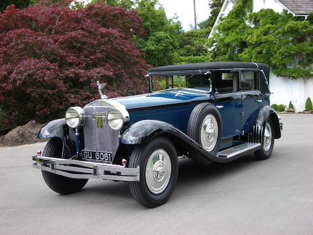 1929 Isotta-Fraschini Tipo 8A 7.4 litre Sport Landaulette  Chassis no. 1390 Engine no. 1390