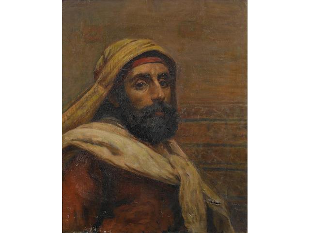 Frederick Goodall, RA (British, 1822-1904) A gentleman of Cairo, 53.5 x 43cm.