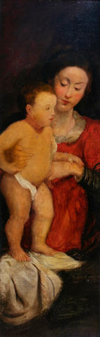 After Giovanni Bellini Madonna and Child, a detail, probably circa 1800,