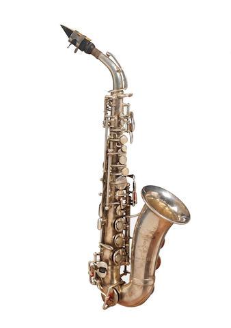 "An upturned Soprano "" Model 22"" Saxophone by Selmer, Paris 1924"