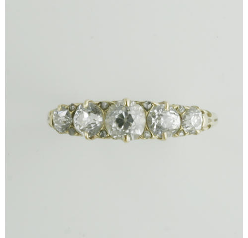 A Victorian five stone diamond ring