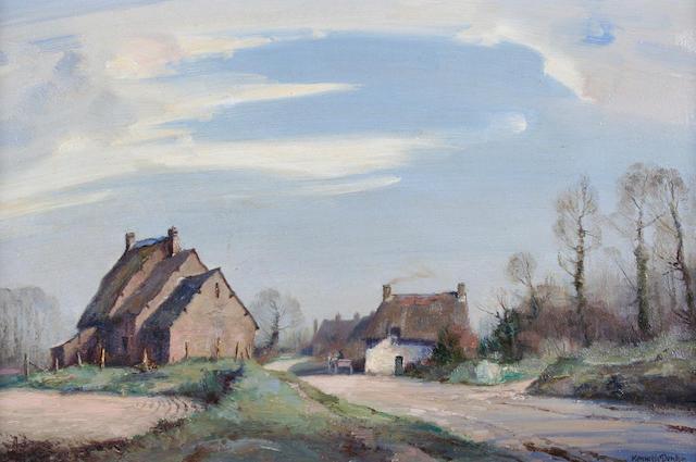 "Kenneth Denton (British) ""A Village near Pontanson, Brittany"","
