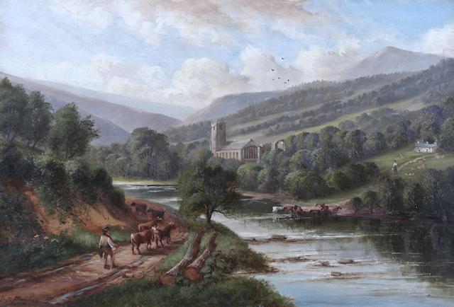 John Joseph Hughes (British, active 1838-1909) 'Marrick Abbey, Swaledale',