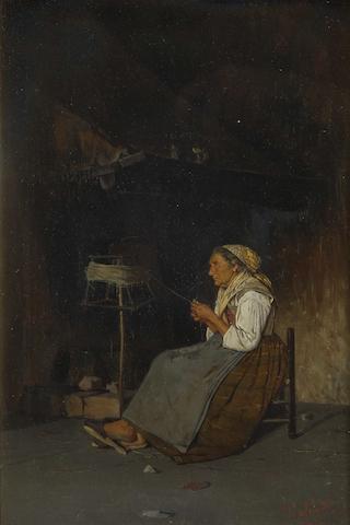 Giuseppe Constantini (Italian, 19th Century) A peaceful moment