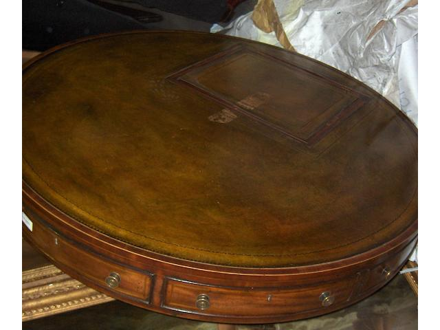 A late George III mahogany library table