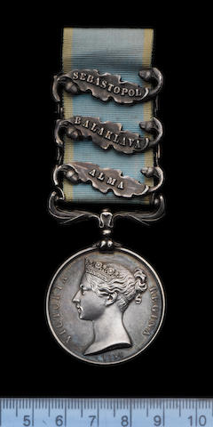 A Highly Important Crimea Medal to Private J.Strutt of the 11th Hussars who took part in the Infamou