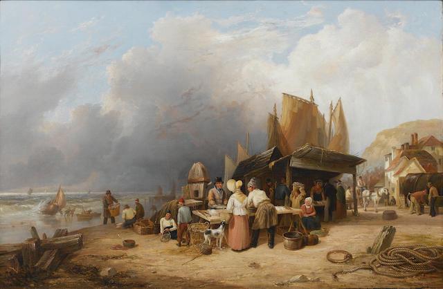 John Frederick Tennant (British, 1796-1872) Misty Morning 79.5 x 120.5 cm. (31 1/4 x 47 1/4 in.)