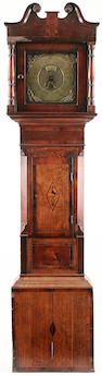Ashbourne oak longcase clock, married, pendulum, one weight