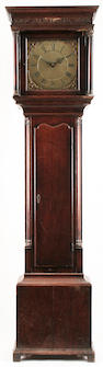 Nathaniel Plimmer longcase 30 hour clock, pendulum & one weight, key