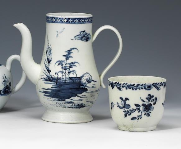 A Chaffers sucrier and a coffee pot circa 1760