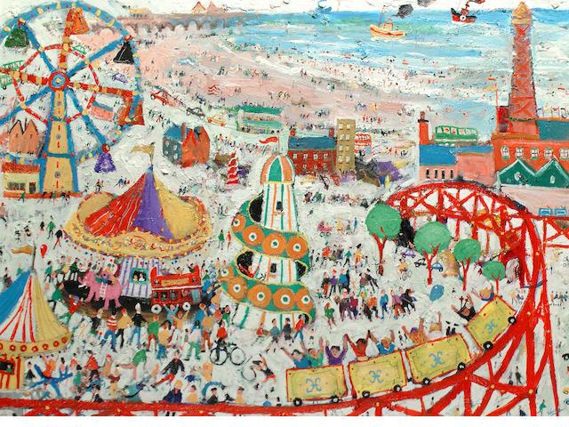 Simeon Stafford (British, born 1956) The fun fair