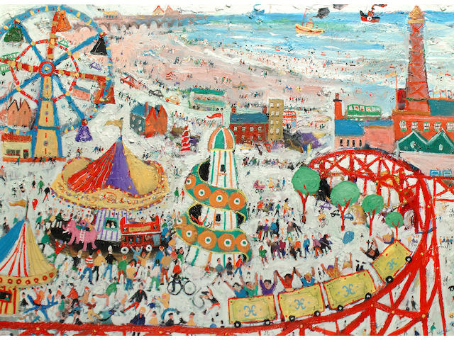 Simeon Stafford (British, born 1956) The fun fair