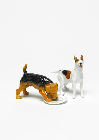 Doulton Burslem A Prototype Character Dog with Plate, circa 1960