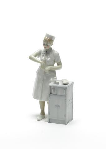 Doulton Burslem 'Nurse', a Prototype Figure, 1987
