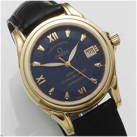 Omega. A fine and rare 18ct rose gold limited edition automatic wristwatch with Co-Axial escapement No.540/999, recent