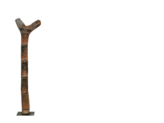 An impressive Dogon wood ladder or totem,