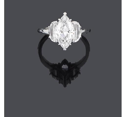 A diamond single-stone ring