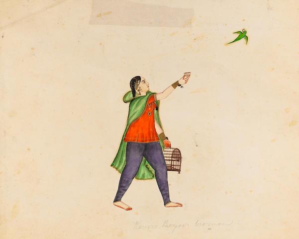 Nine studies of Punjab women Punjab Hills, circa 1840-50(9)