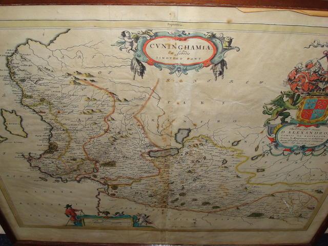 BLAEU (JAN) Leogus et Haraia... Lewis and Harray; Cuninghamia ex schedis Timotheo Pont; Carricta meridionalis: the South Part of Carrick