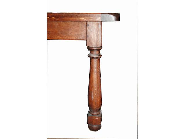 """An oak """"farmhouse"""" table"""