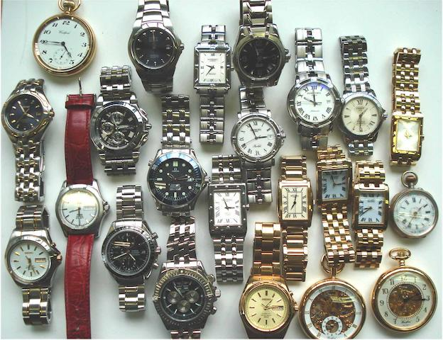 A collection of 19 various wristwatches and 4 various pocket watches (23)