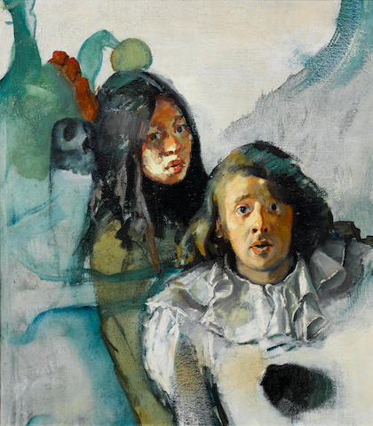 Robert Lenkiewicz (British, 1941-2002) The painter with Jeny