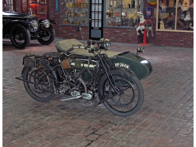 1914 BSA 557cc Model K Motorcycle Combination with BSA No.2 Sidecar