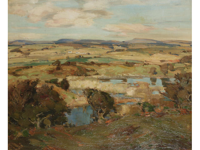 John Campbell Mitchell, RSA (British, 1862-1922) Open farmland