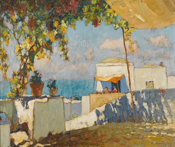 Konstantin Ivanovich Gorbatov (Russian, 1876-1945) Capri 49.8 x 61 cm. (19 1/2 x 24 in.)