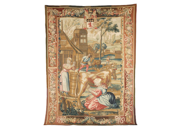 An 18th century Flemish tapestry