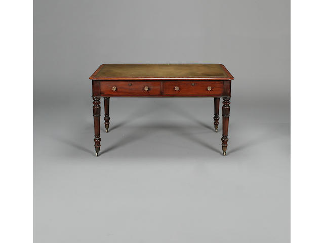 A William IV mahogany library writing tableby Johnstone Jupe & Co