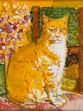 Ruskin Spear R.A. (British, 1911-1990) The Ginger Cat 40.5 x 30.5 cm. (16 x 12 in.)