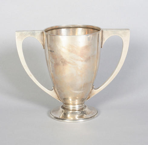A twin handled cup By Martin Hall and Co. Ltd., Sheffield, 1931,