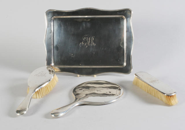 A dressing table tray By W. G. Sothers Ltd, Birmingham, 1922,  (4)