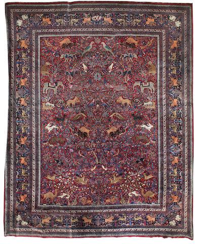 A Romanian Tabriz hunting carpet