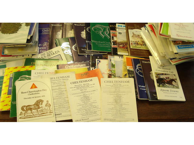 Horse racing racecards