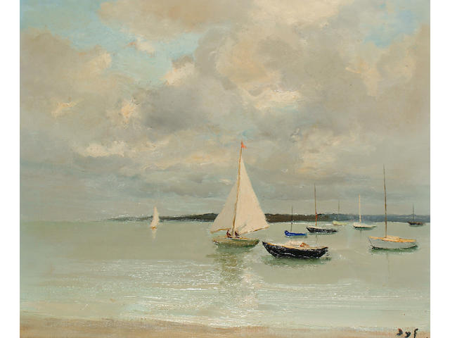 Marcel Dyf (French, 1899-1985) Voile Blanche (Morbihan)