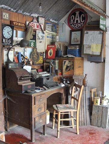 A good vintage garage office museum display,
