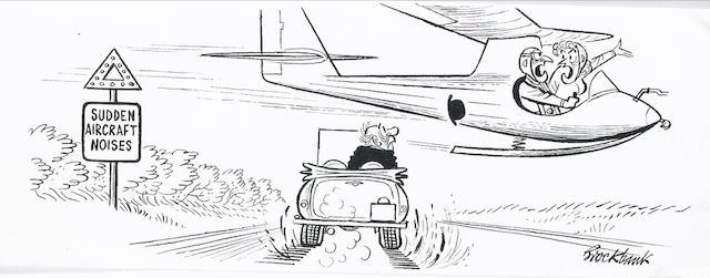 Russell Brockbank (1913-1979) 'Sudden Aircraft Noises',
