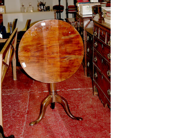 A George III mahogany wine table