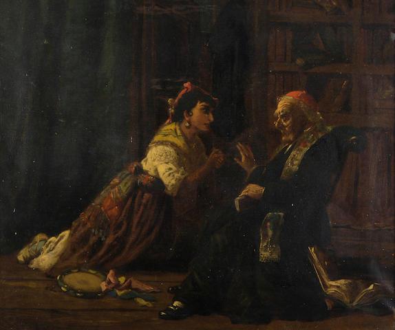 Henry Woods (British, 1846-1921) The dancer's plea