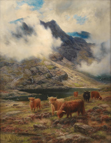 Louis Bosworth Hurt (British, 1856-1929) Rough Pastures, A Skye Col 82 x 64 cm. (32 1/4 x 25 1/4 in.
