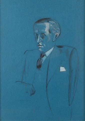 Percy Wyndham Lewis (British, 1882-1957) Portrait of F.W. Heath 54.5 x 39.5 cm. (21 1/2 x 15 1/2 in.