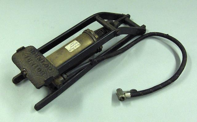 A Dunlop 'Junior' foot-pump,