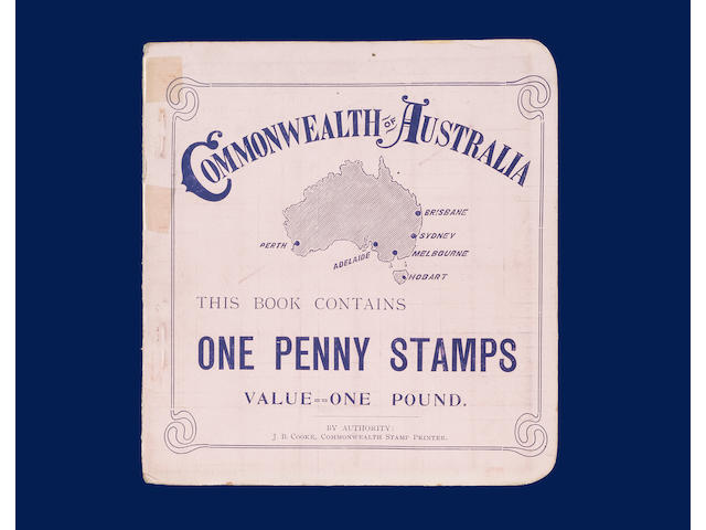 Australian States: Victoria: 1909-12 £1 booklet red on pink cover with 172 x 1d. Victoria stamps wit
