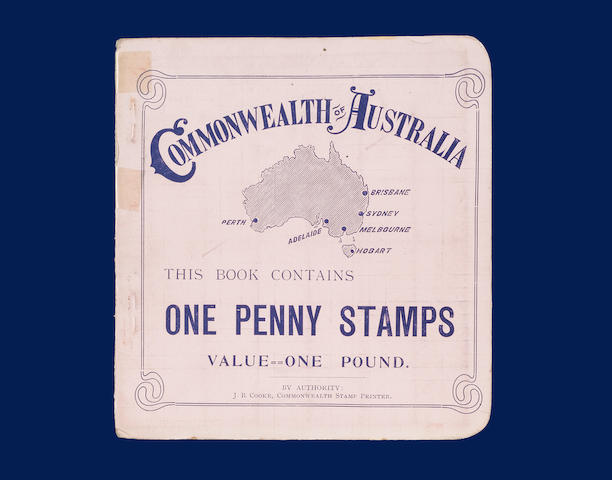 Australian States: Victoria: 1909-12 £1 booklet red on pink cover with 172 x 1d. Victoria stamps with two folded panes of sixty and one less eight (wmk. Crown over A), back cover shows Adelaide G.P.O. (2320)
