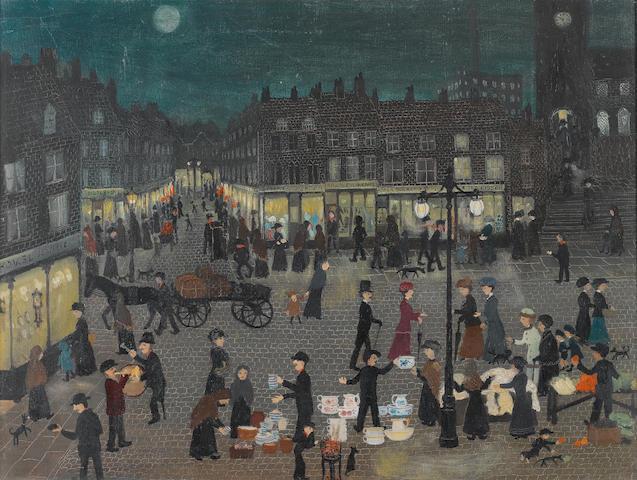 Helen Bradley (British, 1900-1979) We Went To Oldham 53.3 x 71 cm. (21 x 28 in.)
