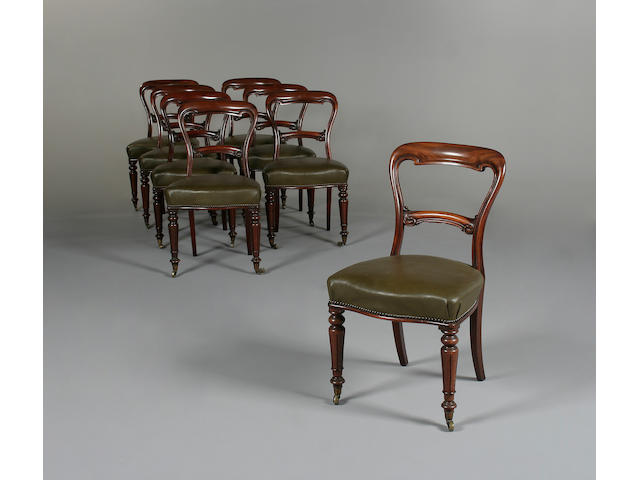 A set of eight early Victorian mahogany dining chairs by Gillows