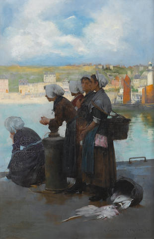 Albert Chevallier Tayler, RBC (British, 1862-1925) Waiting for the boats