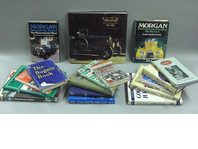 A good lot of literature relating to sports cars,